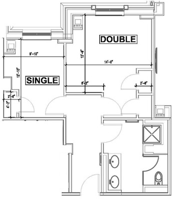 Dorm Couples Suite Image