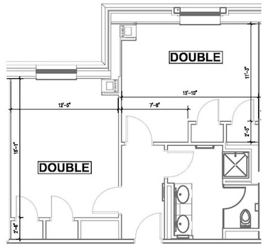 Doubles Suite Floorplan