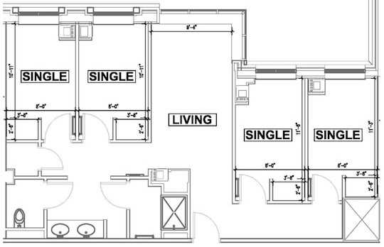 Singles Suite Floorplan
